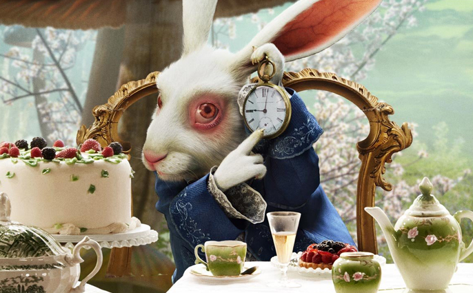 Easter bunny archives fed up and drunk - Alice au pays des merveilles lapin en retard ...