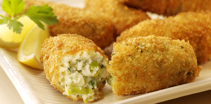 Larkin Ken's recipe for cheese and leek croquettes