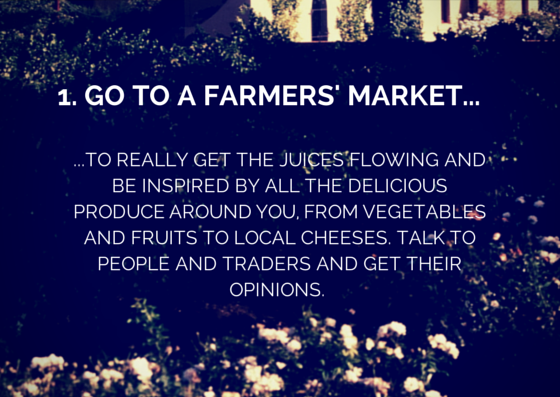 1. Go to a Farmers' Market