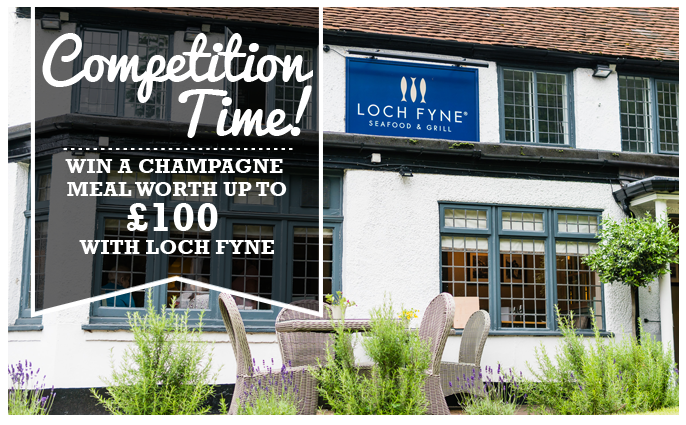 win £100 to spend at Loch Fyne restaurants