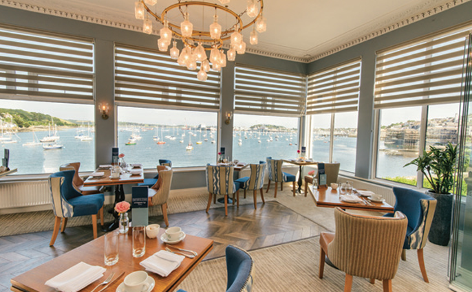 Cornwall Staff Pick: Water's Edge Restaurant at The Greenbank Hotel in Falmouth