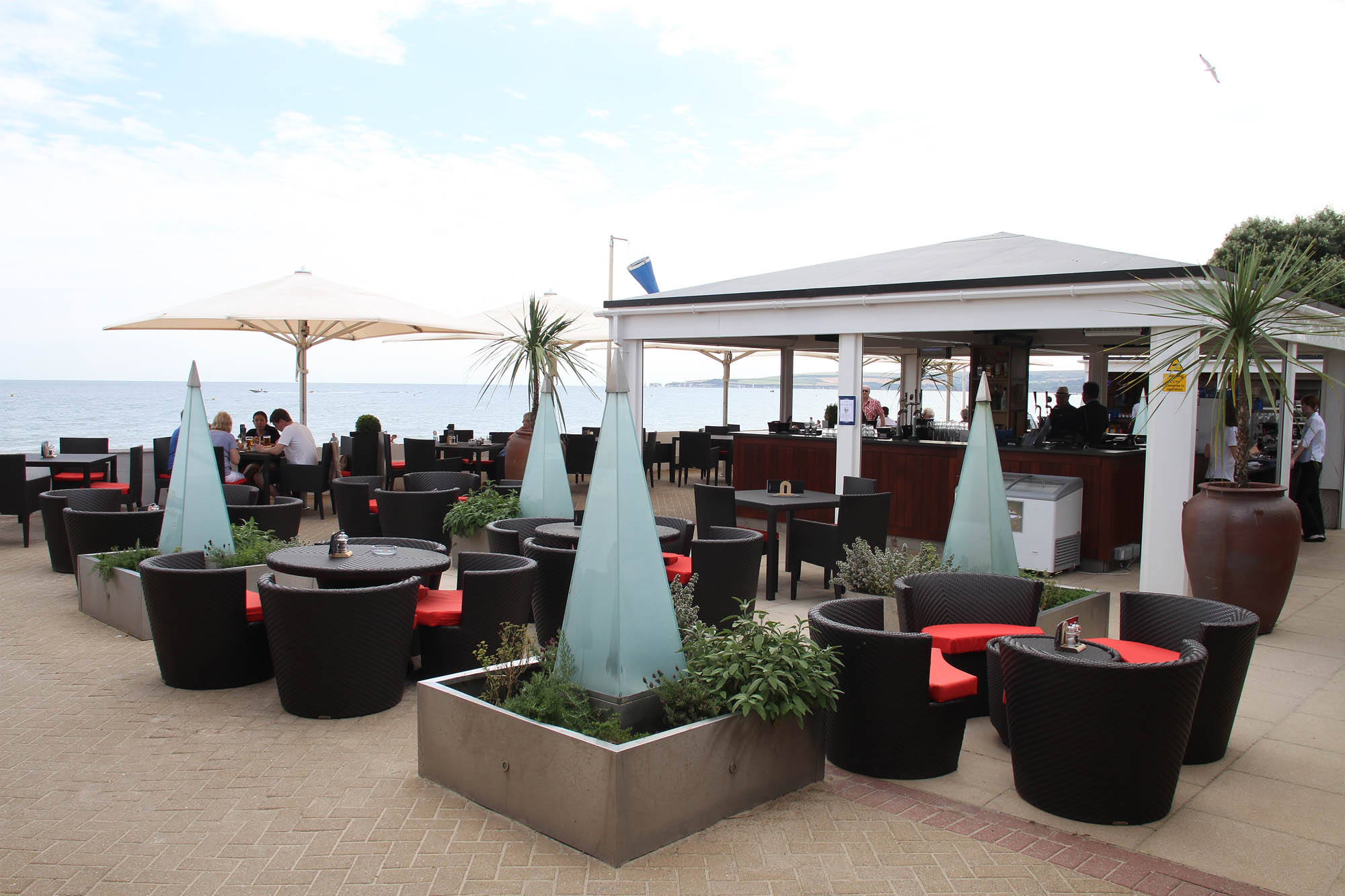 Seaview restaurant terrace at the sandbanks hotel for The terrace bar and food