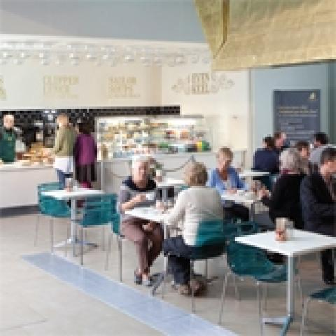 The Even Keel Café at Cutty Sark